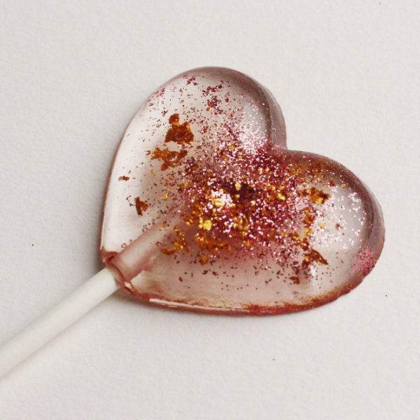 glitter lollipop wedding favour