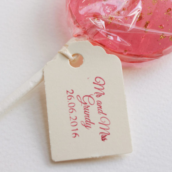 lollipop wedding favours