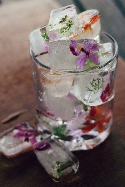 edible flower ice