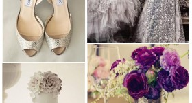 Purple and Silver Wedding Theme