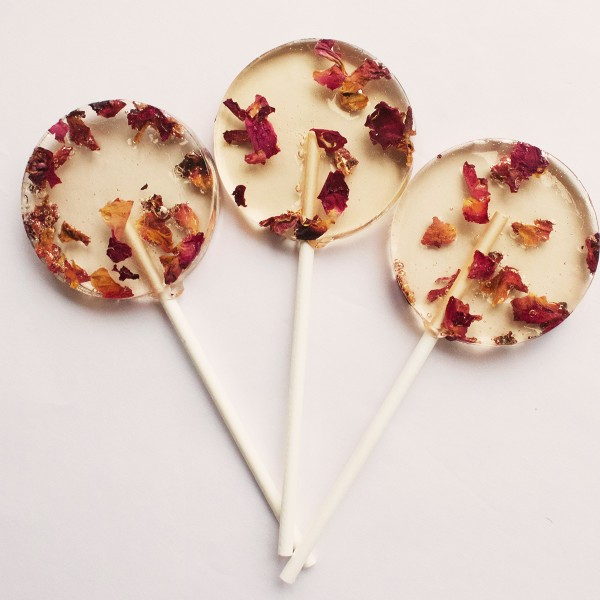 edible rose lollipops
