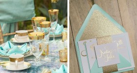 Gold & Turquoise Wedding Theme