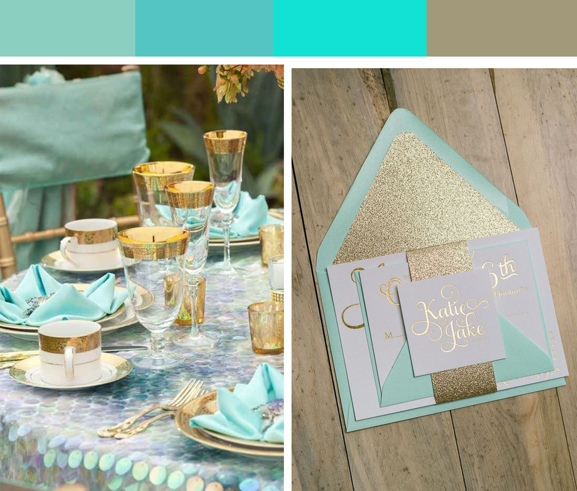 gold turquoise wedding theme the little lollipop shop