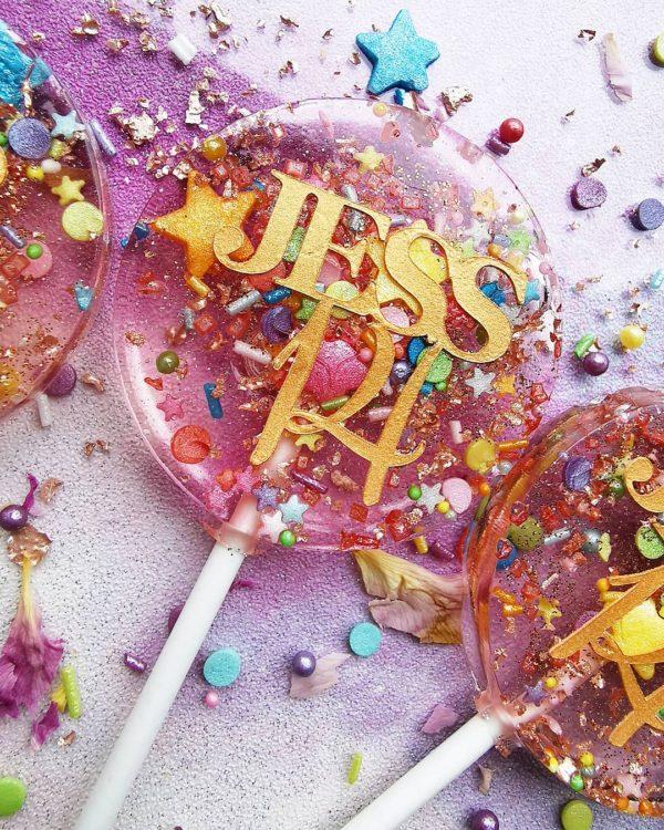 confetti party lollipops